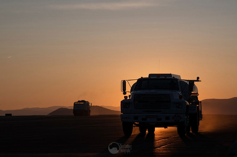 Fuel Bowser and Sweeper at Dawn