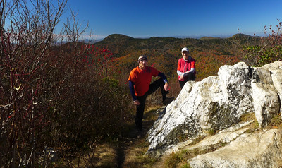 Upper Flat Laurel Creek and Sam Knob with Mark