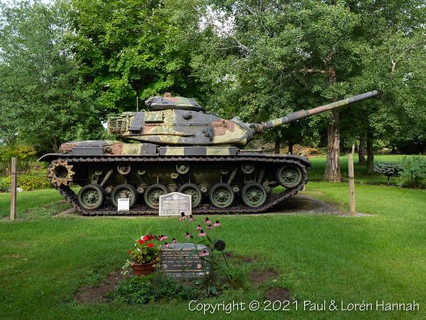 Alexander Corners Veterans & Pearl Harbor Memorial - Henderson, NY - M60A3