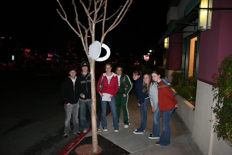 High School Scavenger Hunt Feb 08 up a tree