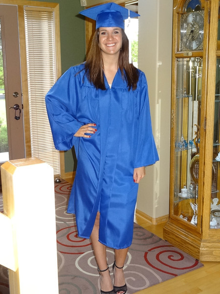 Colie in graduation gown