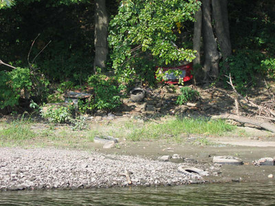 2007 reconnaissance -- north of Jones Ferry