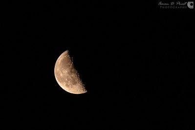 Moon at Sand Beach, Acadia National Park, Maine, July 19, 12:56 AM