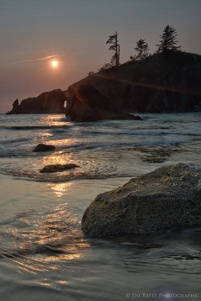 Almost sunset, Second Beach - La Push, WA
