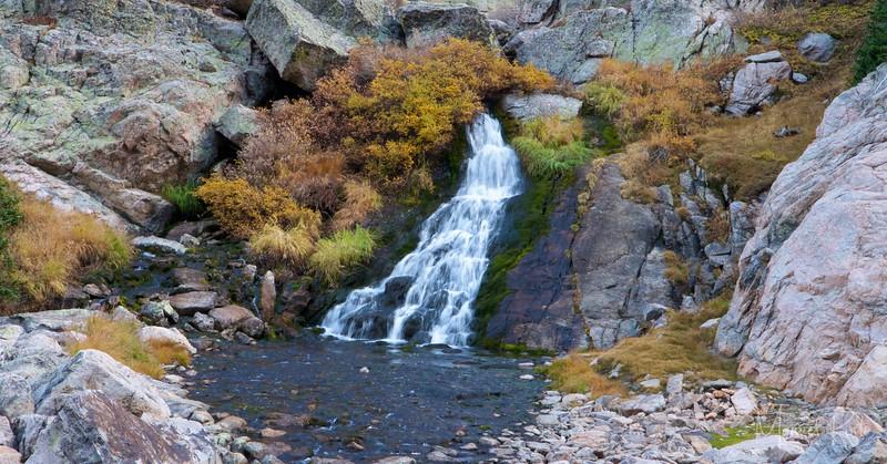 Waterfall below Sky Pond