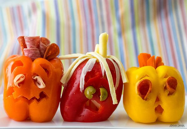 "Boo!!  - ""Pepper O'Lanterns"""