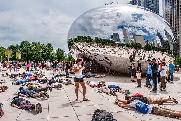 Planking at the Bean