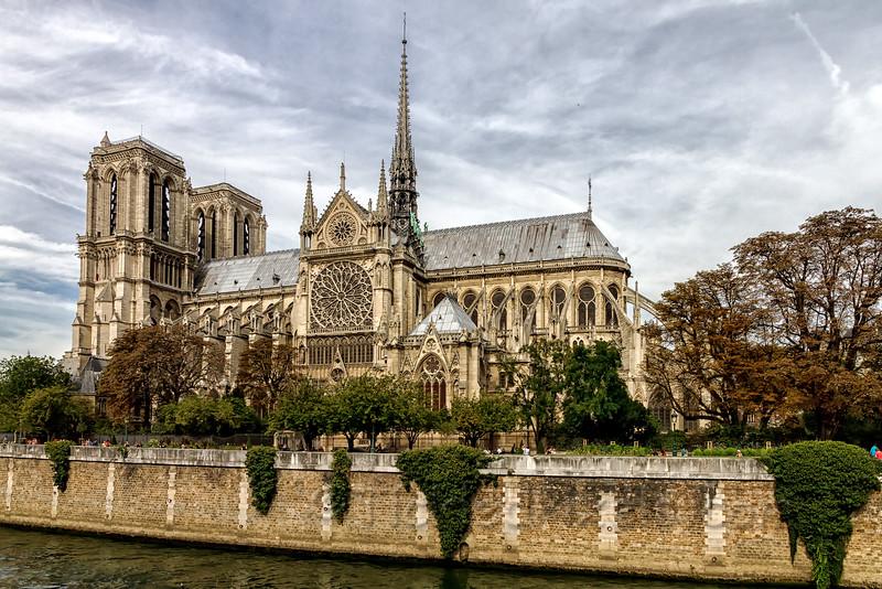 Southern Facade of Notre-Dame de Paris