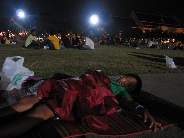 Kids Sleeping.  Bangkok.