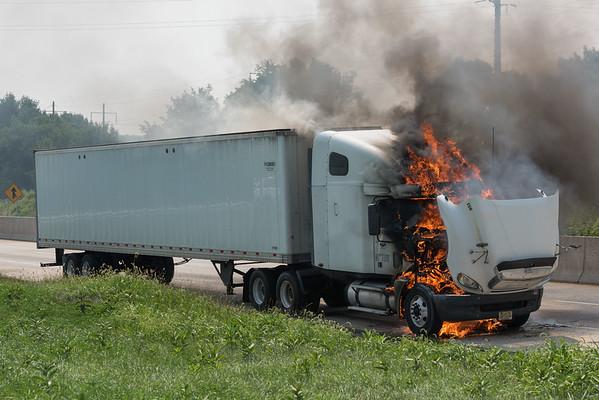 Truck Fire on 283