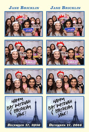 Jane's bat mitzvah