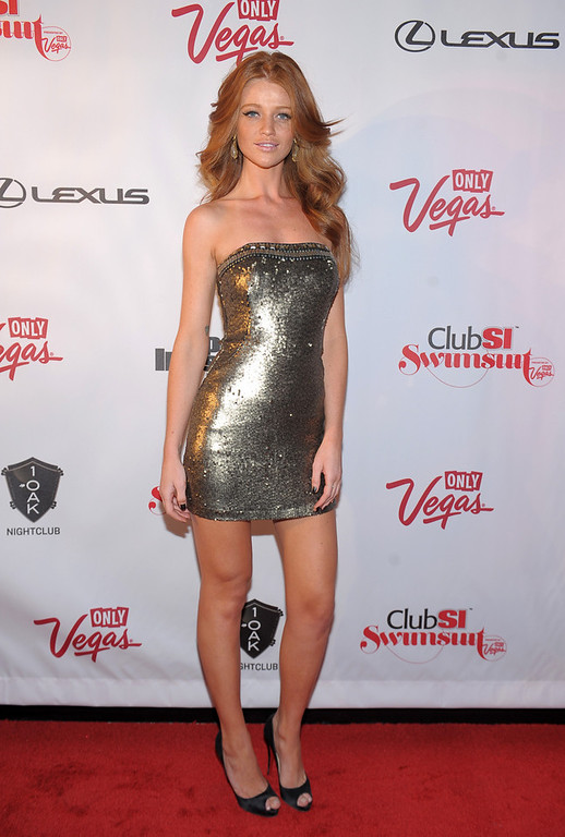 . Sports Illustrated swimsuit model Cintia Dicker attends Club SI Swimsuit at 1 OAK Nightclub at The Mirage Hotel & Casino on February 14, 2013 in Las Vegas, Nevada.  (Photo by Michael Loccisano/Getty Images for Sports Illustrated)