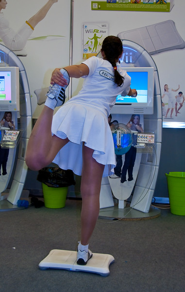 Wii Fit girl at Igromir 2009