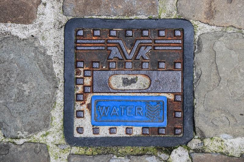 Water valve cover, Bruges.