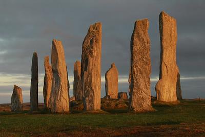 Sunset at the Callanish Stones