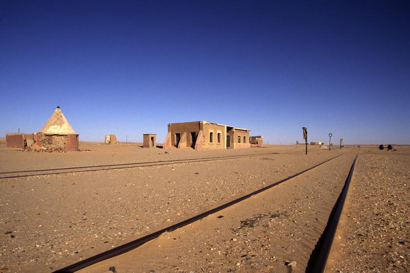 Bahnhof in der Wüste