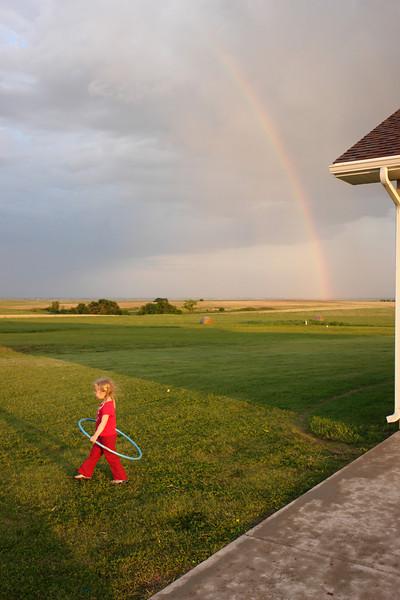 Hula hoop and rainbow