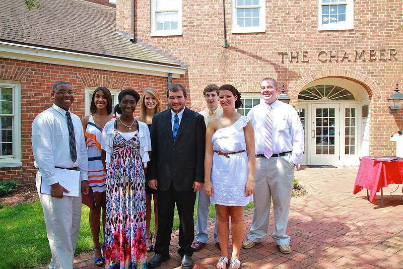 Presentation of the Freeman Scholarship awards at the Chamber building in Shelby.