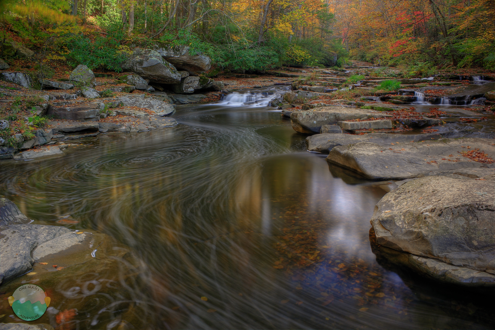 Brush Creek<br /> A view of autumn along Brush Creek in the New River Gorge Area of West Virginia.