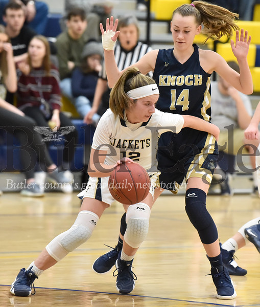 Knoch vs Freeport in a section girls basketball game at Freeport  Middle School