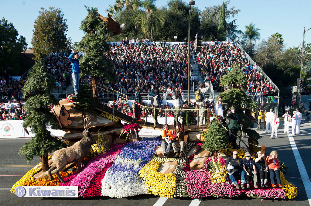 ". Kiwanis International ""Bridging Children\'s Dreams float during 2014 Rose Parade in Pasadena, Calif. on January 1, 2014. (Staff photo by Leo Jarzomb/ Pasadena Star-News)"