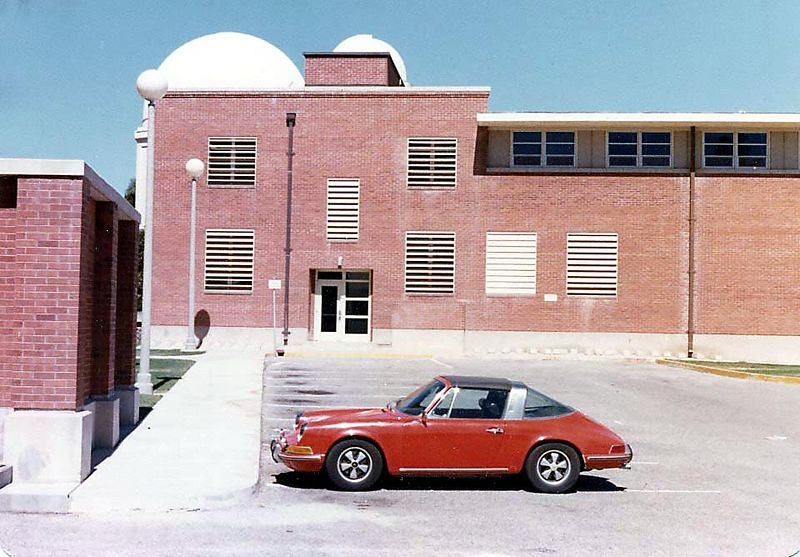 Carl Sagan's Porsche at the University of Arizona
