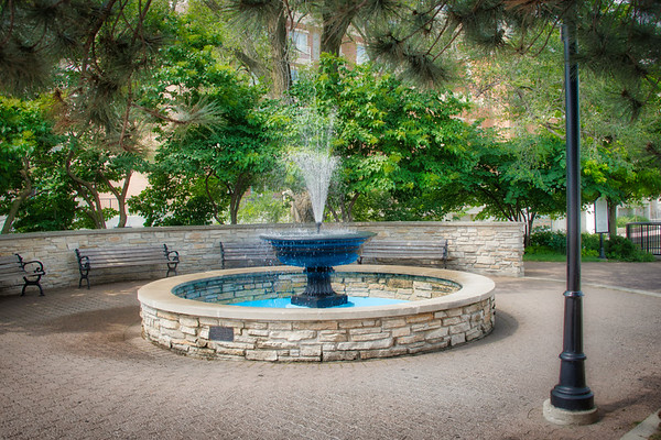 Naperville Riverwalk - Horse Trough Fountain
