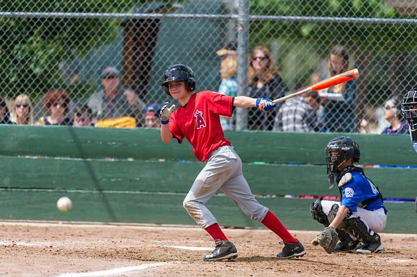 Roseville West Little League Jr. Angels vs Dodgers 5-21-16