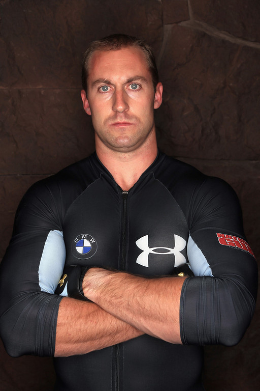 . Bobsledder Curt Tomasevicz poses for a portrait during the USOC Media Summit ahead of the Sochi 2014 Winter Olympics on September 29, 2013 in Park City, Utah.  (Photo by Doug Pensinger/Getty Images)