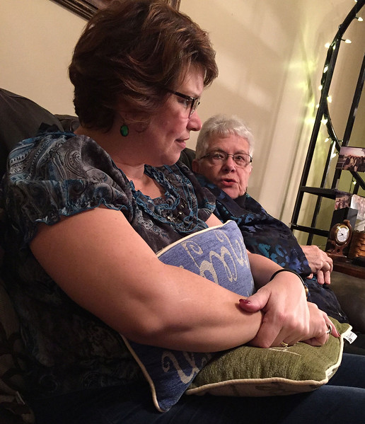 Fran and Mom = Mom's 80th Birthday Celebration on January 28, 2017