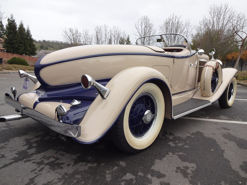 . Lloyd Riggs, of Walnut Creek, Calif., shows his rare 1931 Auburn Speedster Model 8-98. This is a view of the passenger side. (David Krumboltz/For Bay Area News Group)
