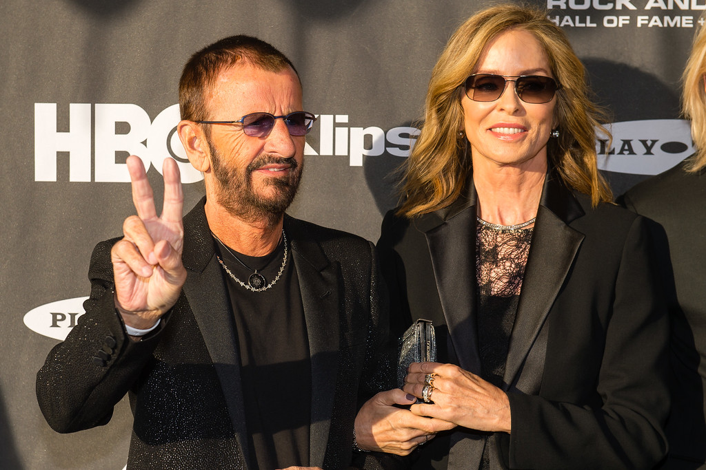 . Ringo Starr and Barbara Bockman on the red carpet prior to the 2015 Rock And Roll Hall Of Fame Induction Ceremony at Public Hall on Saturday, April 18, 2015, in Cleveland, Ohio. (Photo by Jason Miller/Invision/AP)
