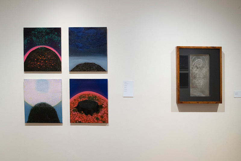 Logan Marconi (left) and Joe Fioramonti (right), installation view