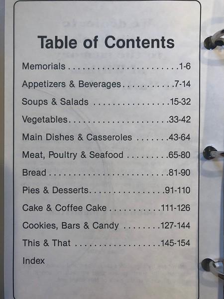 Anderson Family Cookbook