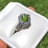 2.48ctw Yellow-Green Round Brilliant Diamond Cluster Ring 1