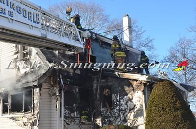East Farmingdale Fire Co. House Fire Melville Road and Alexander Avenue 2-26-14