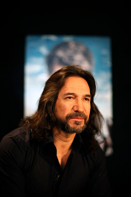 . August 23 & 24, 2013: Marco Antonio Solis<br /> <br />Mexican singer Marco Antonio Solis looks on during a press conference in Mexico City, Wednesday, Feb. 3, 2010.  (AP Photo/Alexandre Meneghini)