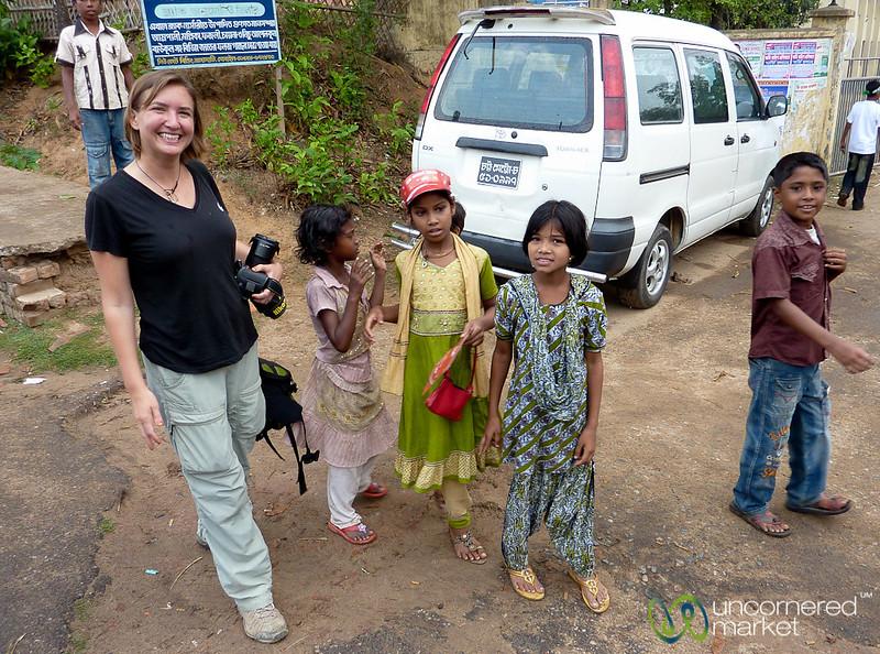Audrey with Kids in Rangamati, Bangladesh