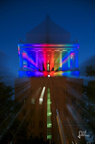 Pride Colors at Night