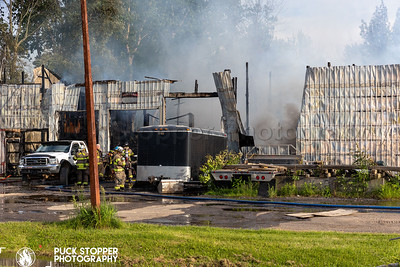 2nd Alarm Commercial Garage Fire - 871 Bromlet Rd, Churchville, NY - 6/16/21