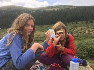 Kandler & girls - Mt Evans Rosalie Tr 3day backpack