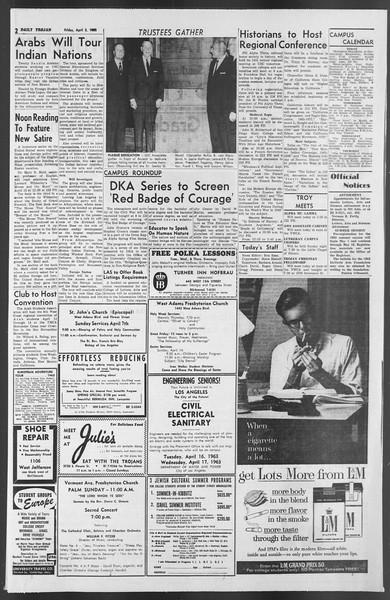Daily Trojan, Vol. 54, No. 97, April 05, 1963