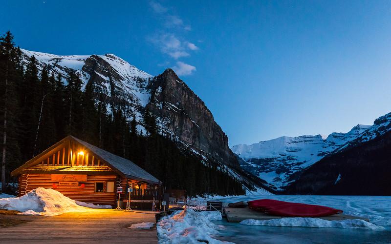 Canoe Cabin @ Sunset