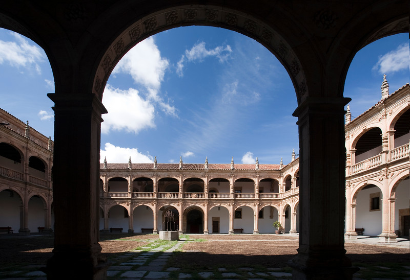 Fonseca College (16th century), in Renaissance style, town of Salamanca, autonomous community of Castilla and Leon, Spain