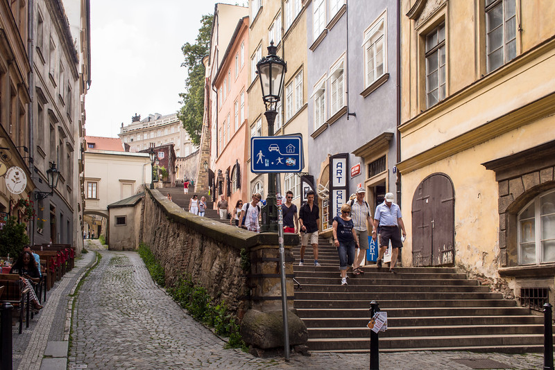 Walk down from the Castle, Prague