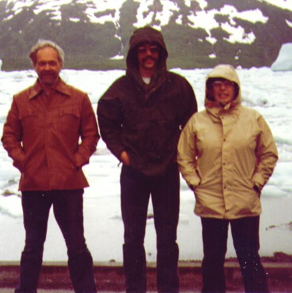 Wayne, Dave, Connie, Portage Glacier, July 1980.jpg