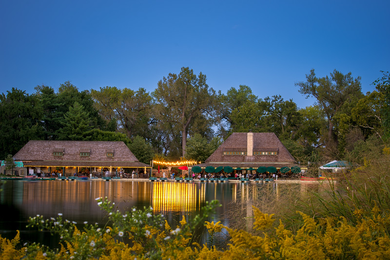 Post-Dispatch Lake Boathouse in Forest Park
