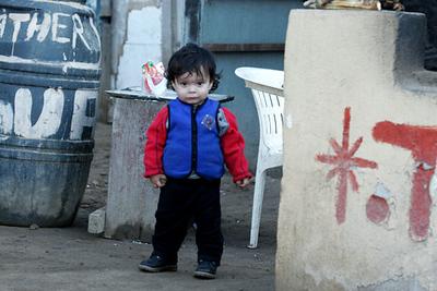 A little girl in Ensedana, Mexico
