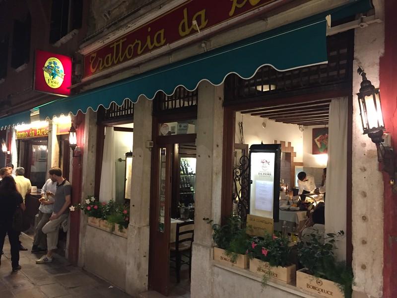 Trattoria da Fiore restaurant. Venice.