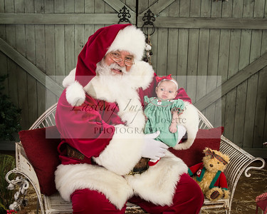 Arabella Visit with Santa